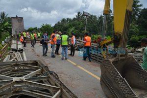Jembatan Darurat di Kosio Mulai Dibangun