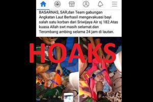 [HOAKS] Foto Bayi Selamat yang Viral itu Bukan Dari Kecelakaan Pesawat Sriwijaya Air SJ 182