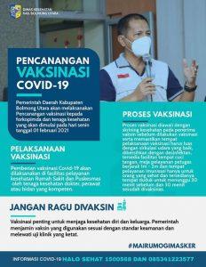 Pemkab Bolmut Jadwalkan Vaksinasi Covid-19 Pekan Depan