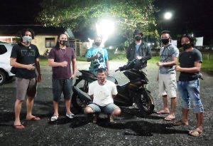 Maling Motor Tetangga, Ar Dibekuk Tim Buser Serigala Hitam Polres Bolmong