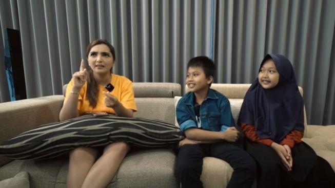 Ashanty dan anak angkatnya putra serta aulia youtubethe hermansyah