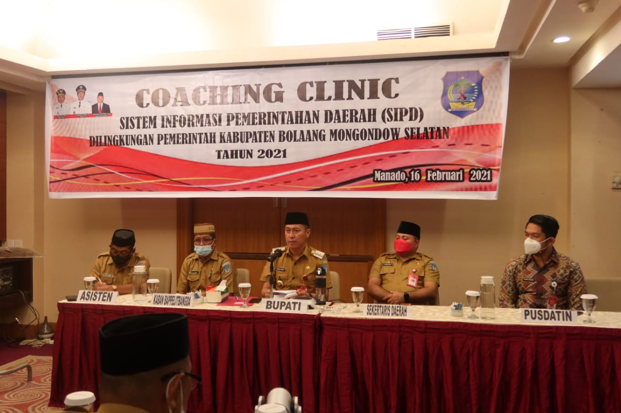 Bupati Iskandar Kamaru bukaCoaching Clinic SIPD