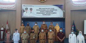 Mutasi Pejabat Boltim Berlanjut, Lima Pejabat Struktural dan Dua Kepsek Dilantik