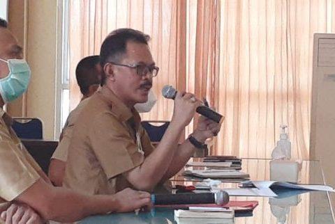 Rapat koordinasi penurunan stunting di Kantor Bappeda Bolmong.