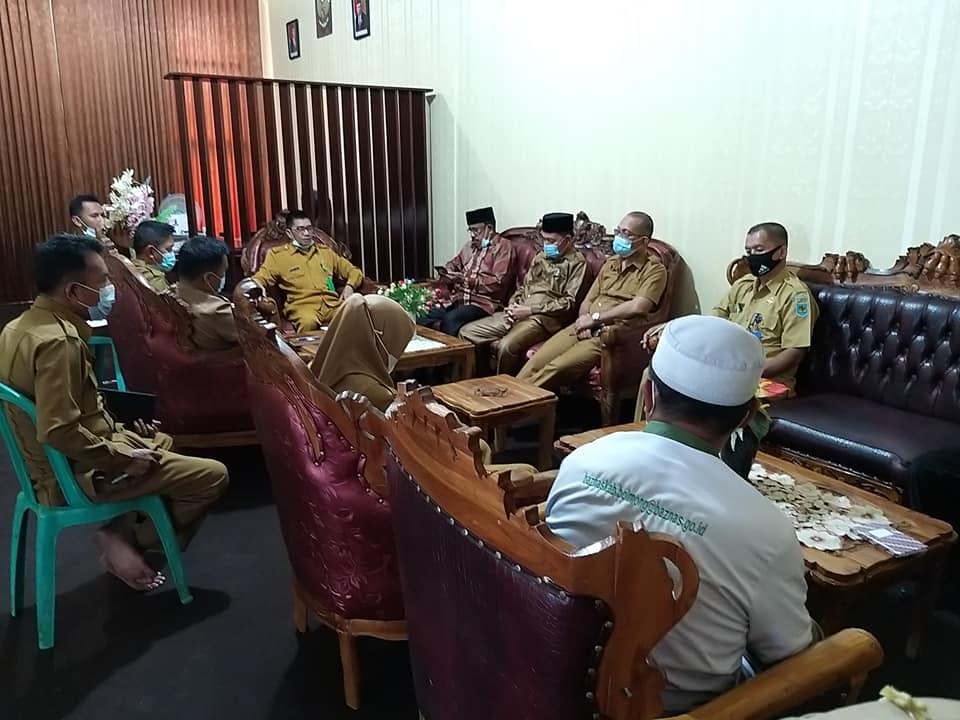 Rapat penentuan zakat fitrah 1442 HTahun 2021 M yang digelar Baznas Kabupaten Bolmong