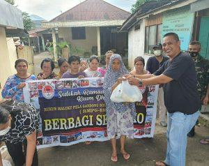 Turun di Pedesaan, Rukun Maluku Pela Gandong BMR Berbagi Sembako