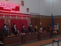 Rapat Paripurna DPRD Bolsel Tetapkan Ranperda Pertanggungjawaban APBD 2020