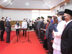 Lantik 125 Pejabat, Pemkot Kotamobagu Wajibkan  Semua Undangan Gunakan Masker