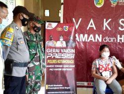 TNI Polri di Kotamobagu Bersinergi untuk Gerai Presisi Vaksinasi Covid-19