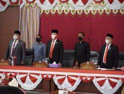 Rangkaian Peringatan HUT RI ke-76, DPRD Bolsel Gelar Paripurna Mendengarkan Pidato Presiden