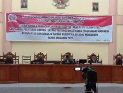 Lewat Paripurna, DPRD Bolmong Setujui LPj APBD 2020