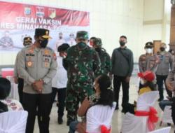 Gerai Vaksinasi Merdeka di Kabupaten Minahasa Ditinjau Kapolda Sulut