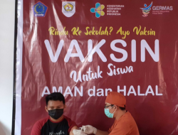 Vaksinasi Covid 19 Digelar di SMKN 1 Kotamobagu Sebelum PTM Dilaksanakan