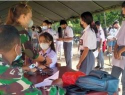 Kodim 1303 Bolmong Giatkan Serbuan Vaksinasi Covid-19 untuk Pelajar