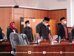 Lewat Paripurna, DPRD Bolsel Setuju Bahas 3 Ranperda
